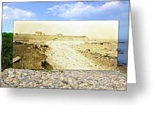 Cliffs At The Town Landing In Little Compton Ri Greeting Card