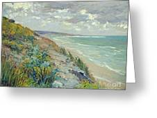Cliffs By The Sea At Trouville  Greeting Card by Gustave Caillebotte