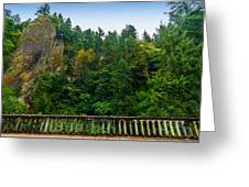Cliffs High Above Road Greeting Card