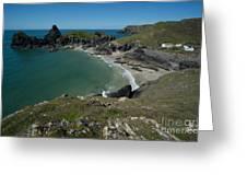 Cliffs In Bretagne Greeting Card