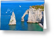 Cliffs Of Etretat France Greeting Card