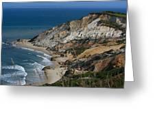 Cliffs Of Gay Head At Aquinnah Greeting Card
