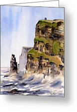 Clare   The Cliffs Of Moher   Greeting Card