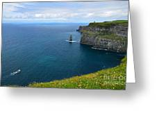 Cliffs Of Moher Looking North Greeting Card