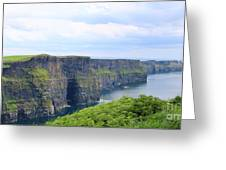 Cliffs Of Moher Panorama 3 Greeting Card