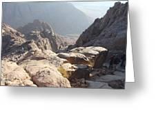 Cliffs Of Mount Sinai Greeting Card