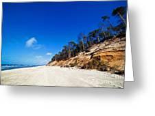 Cliffs On A Sunny Beach Greeting Card