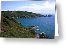 Cliffs On Isle Of Guernsey Greeting Card