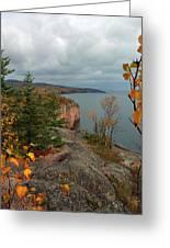 Cliffside Fall Splendor Greeting Card