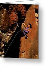 Climber, Red Rocks, Nv Greeting Card