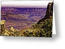 Climbing In Grand Canyon Greeting Card