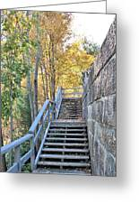 Climing Into Autumn Greeting Card