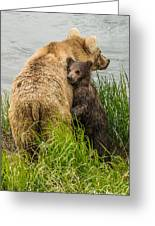 Clinging To Mom Greeting Card