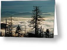 Clingman's Dome Sea Of Clouds - Smoky Mountains Greeting Card