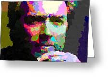 Clint Eastwood - Abstract Greeting Card