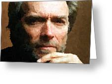 Clint Eastwood Portrait Greeting Card