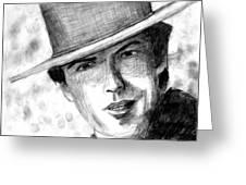 Clint Eastwood Western Greeting Card