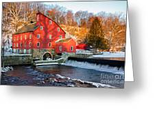 Clinton Mill In Winter Greeting Card