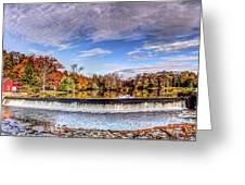 Clinton Nj Historic Red Mill Pano Greeting Card