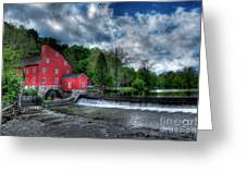 Clinton Red Mill House Greeting Card by Lee Dos Santos