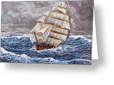 Clipper Ship Greeting Card