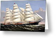 Clipper Ship Three Brothers Greeting Card by War Is Hell Store