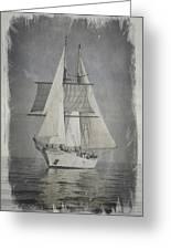 Clipper Under Sail Greeting Card