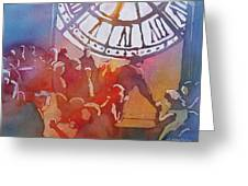 Clock Cafe Greeting Card
