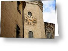 Clock Front Greeting Card