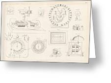 Clock Mechanism, 19th Century Greeting Card by Science Photo Library