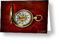 Clock - The Pocket Watch Greeting Card by Paul Ward