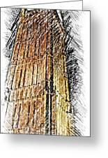 Clock Tower At Night Greeting Card