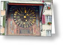 Clock Tower In Solothurn Greeting Card