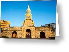 Clock Tower Gate Greeting Card
