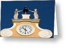 Clock Tower In Bardolino Greeting Card