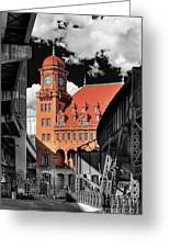 Clock Tower Greeting Card by Tim Wilson