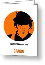 Clockwork Orange Poster 1 Greeting Card
