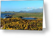 Clogher Beach And The Three Sisters Greeting Card