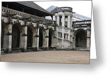 Cloister And Staircase Cathedral Tours Greeting Card