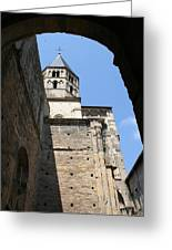 Cloister Cluny Church Steeple Greeting Card