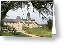 Cloister Fontevraud View - France Greeting Card