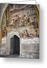 Cloister Fresco Greeting Card by Joan Carroll