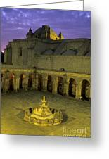 Cloisters At Sunset Arequipa Peru Greeting Card