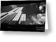 Close In Shot Of The Empire State Building New York City Greeting Card by Joe Fox