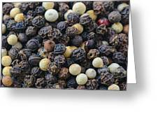 Close Up Background Of Multi Color Peppercorn Greeting Card