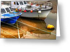 Close Up Boats Greeting Card