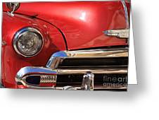Close Up Of A Red Chevrolet Greeting Card