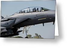 Close-up Of A U.s. Air Force F-15e Greeting Card