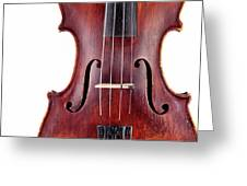 Close Up Of A Violine Greeting Card