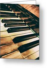 Close Up Of An Old Piano Greeting Card